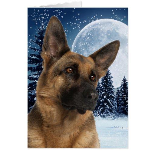 German Shepherd Christmas Card Zazzle
