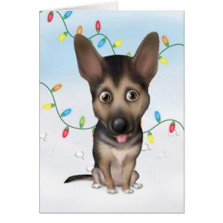 German Shepherd Christmas Greeting Card