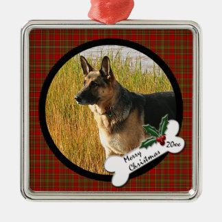 German Shepherd Christmas Ornament
