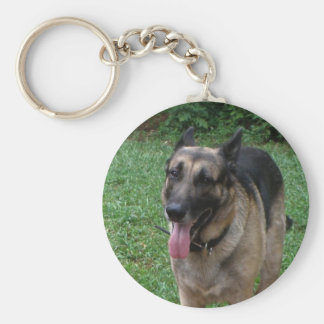 German Shepherd Collection Basic Round Button Key Ring