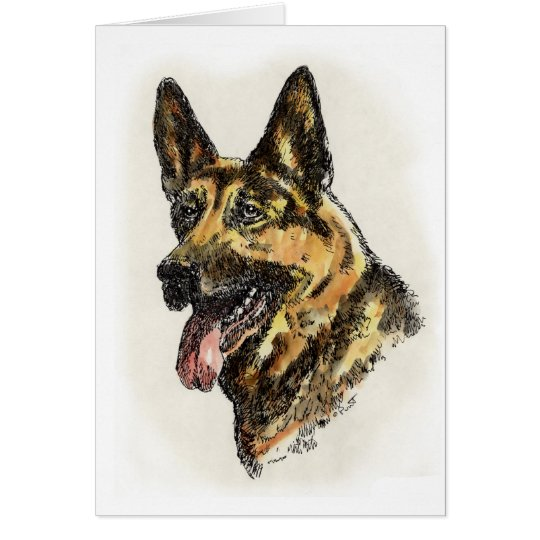 German Shepherd Colour Card