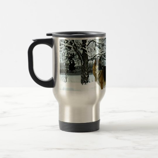 German Shepherd Commuter Coffee Mug