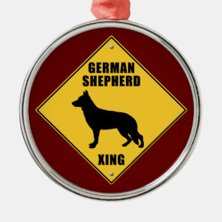 German Shepherd Crossing (XING) Sign Christmas Ornament