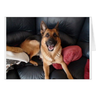 German Shepherd Custom Greeting Card