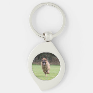 German Shepherd Custom Swirl Keychain