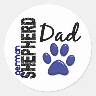 German Shepherd Dad 2 Round Stickers