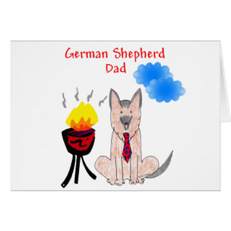 German Shepherd Dad Card