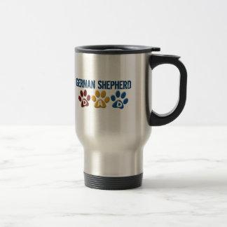 GERMAN SHEPHERD Dad Paw Print 1 15 Oz Stainless Steel Travel Mug