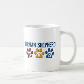 GERMAN SHEPHERD Dad Paw Print 1 Classic White Coffee Mug