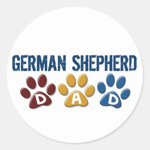 GERMAN SHEPHERD Dad Paw Print 1 Stickers