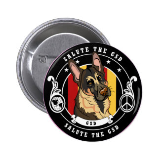 German Shepherd Design Button