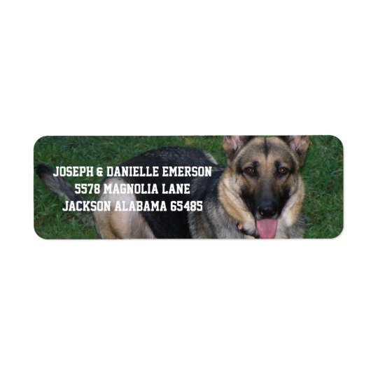 German Shepherd Dog Address Labels