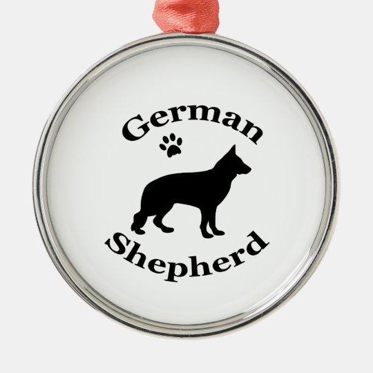 German Shepherd dog black silhouette paw print Christmas