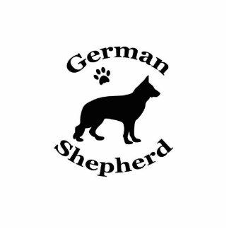 german shepherd dog black silhouette paw print standing photo sculpture