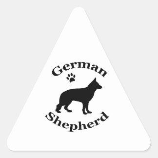 german shepherd dog black silhouette paw print triangle sticker