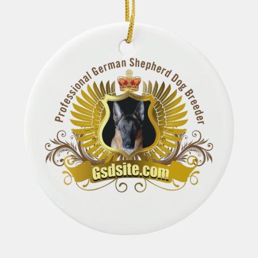German Shepherd Dog Breeder and Owner Ornaments