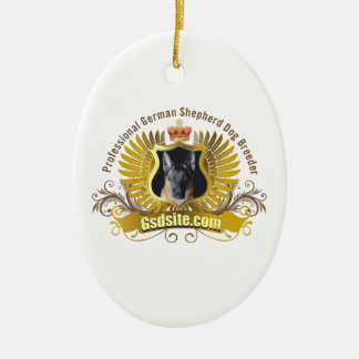 German Shepherd Dog Breeder Oval Ornaments