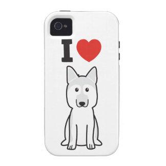 German Shepherd Dog Cartoon iPhone 4/4S Cases