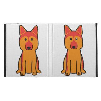 German Shepherd Dog Cartoon iPad Folio Cases