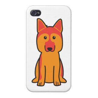 German Shepherd Dog Cartoon Case For iPhone 4