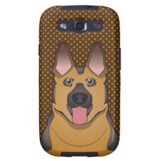 German Shepherd Dog Cartoon Paws Samsung Galaxy SIII Covers