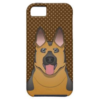 German Shepherd Dog Cartoon Paws iPhone 5 Case