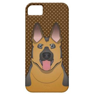 German Shepherd Dog Cartoon Paws iPhone 5 Covers