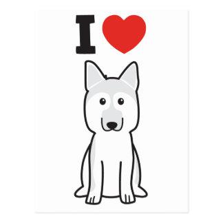 German Shepherd Dog Cartoon Postcard
