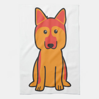 German Shepherd Dog Cartoon Tea Towel