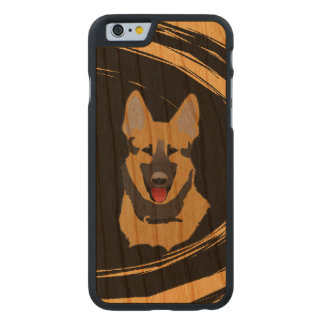 German Shepherd Dog Carved Cherry iPhone 6 Case