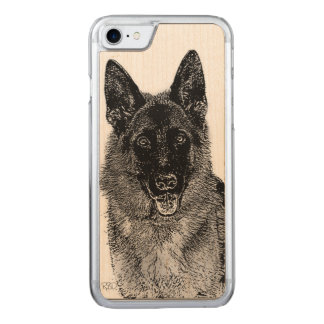 German Shepherd dog Carved iPhone 8/7 Case
