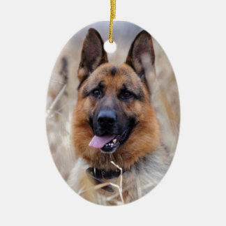 German Shepherd Dog Ceramic Oval Decoration