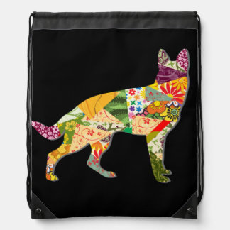 German Shepherd Dog - colorful artwork on the bag