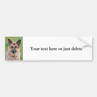German Shepherd dog custom bumper sticker