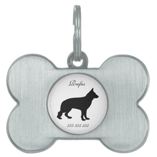 German Shepherd dog custom name phone no. dog