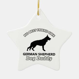 german shepherd Dog Daddy Ceramic Star Decoration