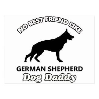 german shepherd Dog Daddy Postcard