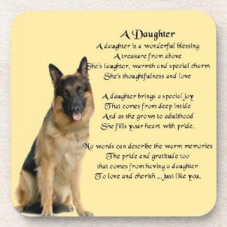 German Shepherd Dog - Daughter Poem Coaster