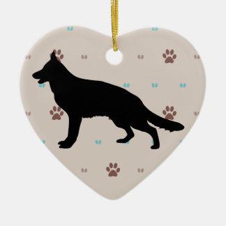 German Shepherd Dog Christmas Ornaments