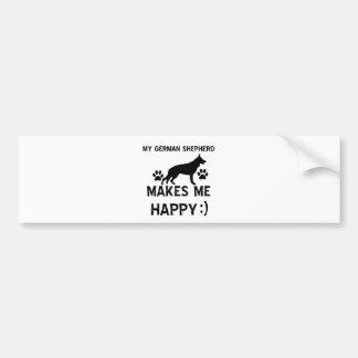 German Shepherd dog designs Bumper Sticker
