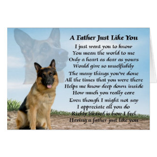 German Shepherd dog father poem Card