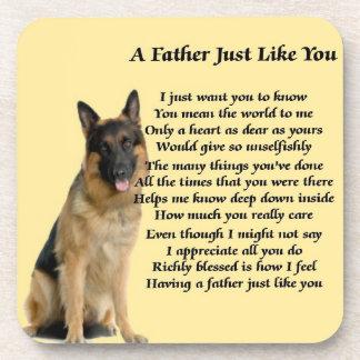 German Shepherd Dog Father Poem Coaster