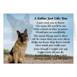 German Shepherd dog father poem Greeting Card