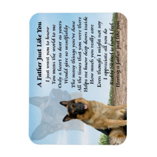German Shepherd Dog Father Poem Magnet