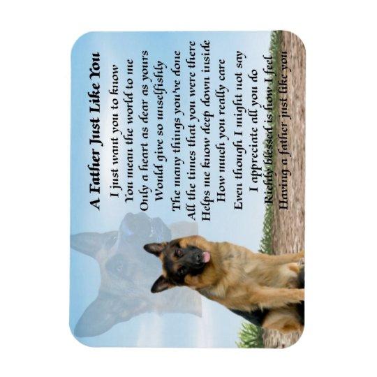 German Shepherd Dog Father Poem Magnet