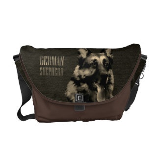 German Shepherd dog - GSD Portrait Messenger Bag