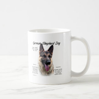 German Shepherd Dog History Design Classic White Coffee Mug