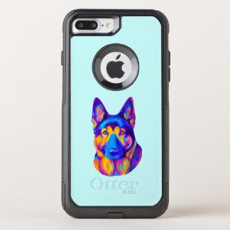 German Shepherd Dog in Colors OtterBox Commuter iPhone 7 Plus Case
