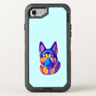 German Shepherd Dog in Colors OtterBox Defender iPhone 7 Case