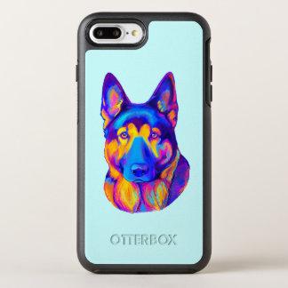 German Shepherd Dog in Colors OtterBox Symmetry iPhone 7 Plus Case